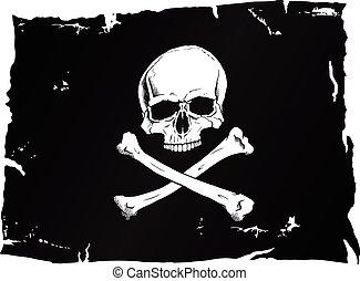 fahne, pirat, totenschädel
