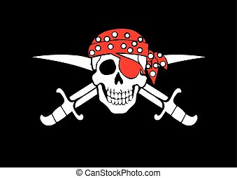 fahne, roger, pirat, lustig