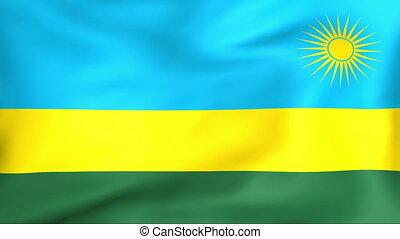 fahne, rwanda