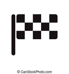 fahne, schwarz, checkered, ikone, weißes, wohnung