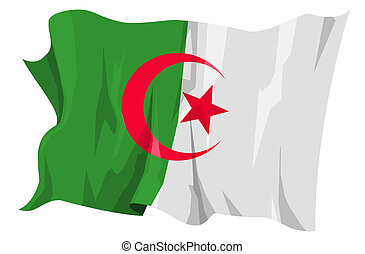 fahne, series:, algerien