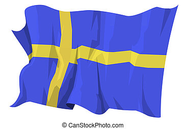 fahne, series:, schweden