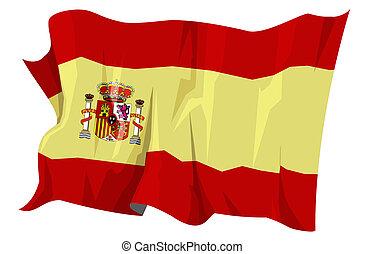 fahne, series:, spanien