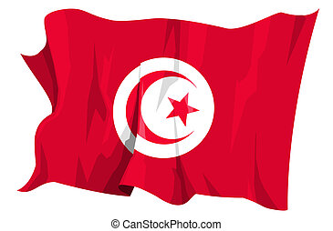 fahne, series:, tunesien