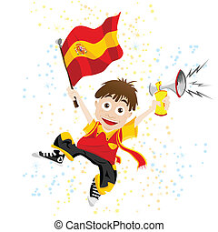 fahne, sport, fächer, spanien, horn
