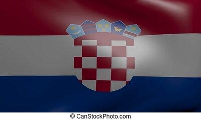 fahne, starke , kroatien, wind