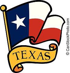 fahne, vektor, texas, abbildung
