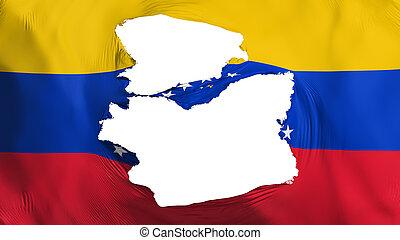 fahne, venezuela, zerfetzt