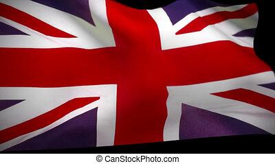 fahne, vereint, großbritannien, königreich
