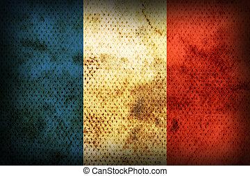 fahne, verwittert, frankreich