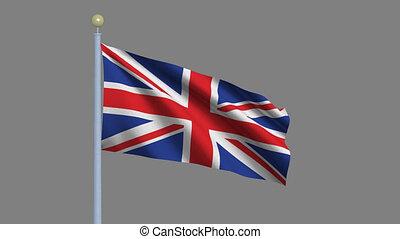 fahne, von, der, verbundenes königreich großbritannien...