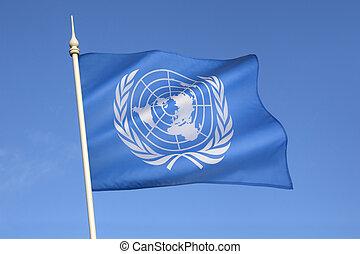 fahne, von, der, vereinte nationen