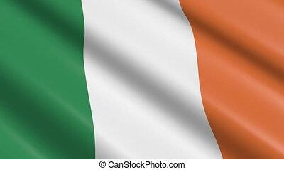 fahne, von, irland, (seamless, loop)