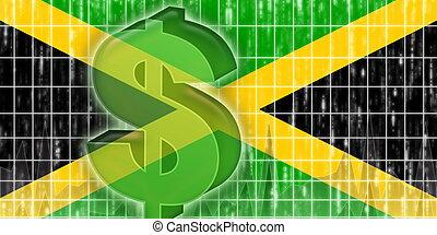 fahne, von, jamaika, finanz, wirtschaft