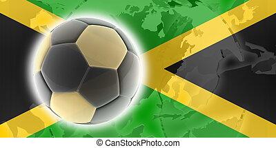 fahne, von, jamaika, fußball