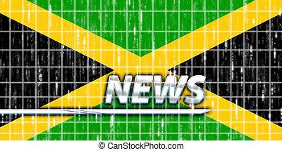 fahne, von, jamaika, nachrichten