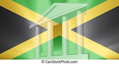 fahne, von, jamaika, regierung
