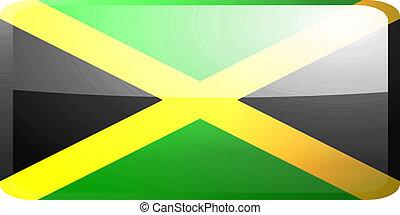 fahne, von, jamaika, taste