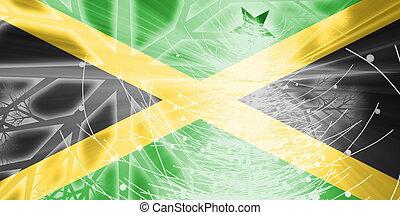 fahne, von, jamaika, weihnachten, feiertage
