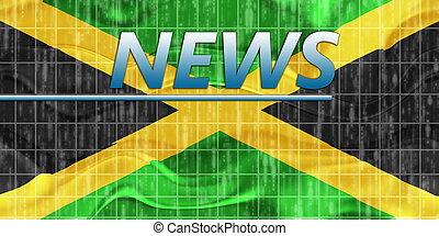 fahne, von, jamaika, wellig, nachrichten