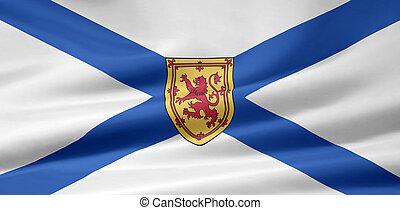 fahne, von, neuschottland, -, kanada
