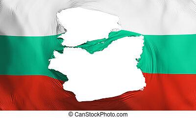 fahne, zerfetzt, bulgarien