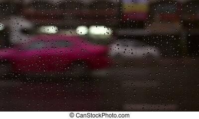 fahren, auto, tropfen, wasserglas, hintergrund