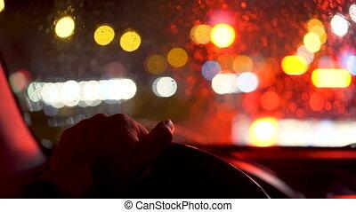 fahren autos, nacht