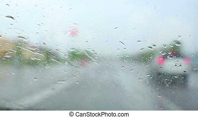 fahren, Regen