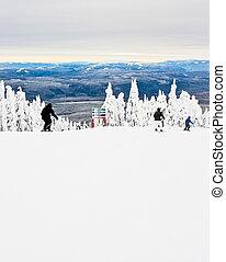 fahren ski zuflucht, ansicht