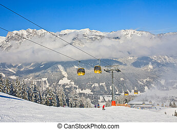 fahren ski zuflucht, schladming, ., österreich