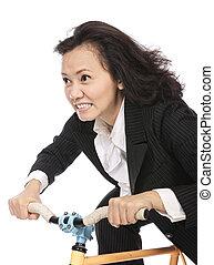 fahrenden fahrrad