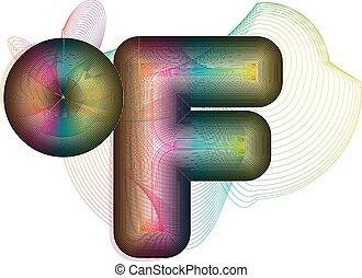 fahrenheit, abstratos, símbolo, coloridos