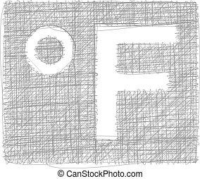 fahrenheit, freehand, símbolo