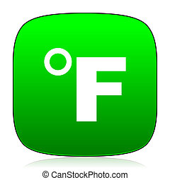 fahrenheit green icon for web and mobile app