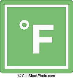 Fahrenheit vector flat colour icon