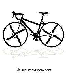 fahrrad, für, konkurrenz