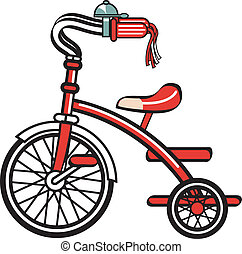 fahrrad, fahrrad, dreirad, dreiradfahren, clipart