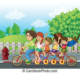 fahrrad, familie