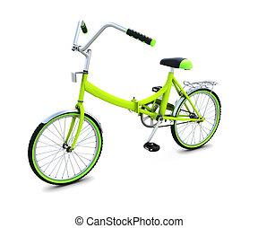 fahrrad, freigestellt, weiß, hintergrund