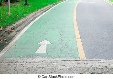 fahrrad, gasse, grün, boden