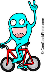 fahrrad, marionette