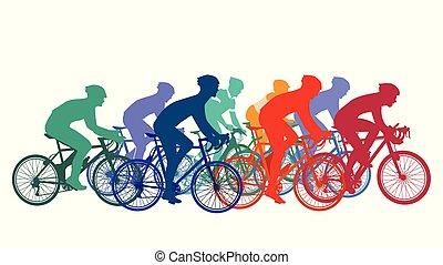 Fahrrad-Rennen