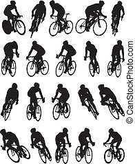 fahrrad, silhouette, rennsport, detail, 20