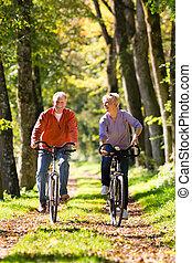 fahrrad, trainieren, ältere