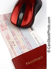fahrschein, fluggesellschaft, online