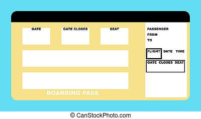 fahrschein, fluggesellschaft