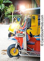 fahrzeug, tuk-tuk, städtisch, thailand