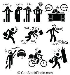 Fail Businessman Clipart - A set of human pictogram ...