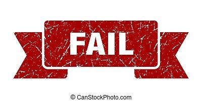 fail grunge ribbon. fail sign. fail banner